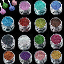 1 box Laser Bling Magic Effect Nail Glitter Holographic DIY Holo Silver Blue Shiny Manicure Nail Art Powder Dust Decor TRL01-16(China)