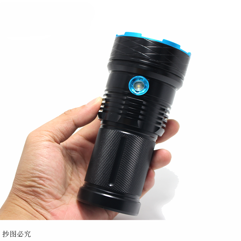 high power Led flashlamp 25000 lumen King XM-L12*T6 LED Flashlight Camping,Hiking Hunting Work Lamp +18650 battery+charger+ box<br>