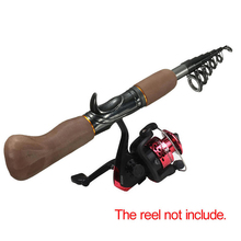 Portable Carbon Fiber Telescope Fishing Rod Travel Sea Rock Spinning Pole 1pc