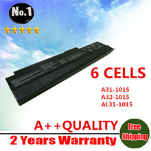 wholesale  New 6 cells Laptop battery For Asus Eee PC 1015 1016 A31-1015 A32-1015 Free shipping