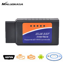 MALUOKASA Auto Bluetooth LM327 USB V1.5 Modified Vehicle Diagnostic Scanner Tool Reader for Ford ELMconfig PIC18F25K80 Chip(China)
