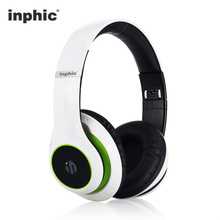 Inphic HIFI Wireless Bluetooth Stereo Headphones Folding Noise Reduction Earphone Headset with MIC for iPhone Ipad Tablet PC