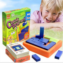 Children Educational IQ Geometric Game Toy Classic Tangram Brain Teaser 3D Puzzles Toys For Kids Gifts  Baby Puzzle Square Toy