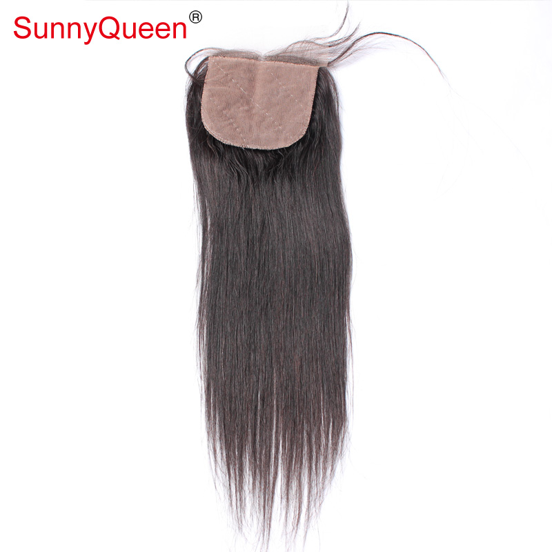 6A 4x4 Malaysian Virgin Straight Hair Silk Base Closure Straight Malaysian Hair Silk Lace Closure With Baby Hair Free Shipping<br><br>Aliexpress