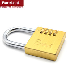 Rarelock 5pcs/lot Brass Padlock Code Resettable Combination Lock Travel Luggage,Door,Gate,Cabinet,Furniture Keyless Lock f