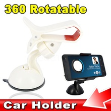 Newest Portable Holder Universal 360 Rotatable Car Stick Sucker Windshield Mount Stand Holder for Cellphone Mobile Phone GPS PDA