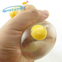 DoubleYellow Eggs Stress Relief Venting Ball Squeeze Stress Reliever Ball Toy For Adult Children Novelty Adhd Gift Free Delivery(China)