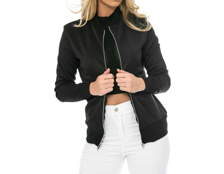 Hot Sprzedaż Jesień Tanie Ubrania Kobiet Małe Krótkie Kurtki Z Długim Rękawem Zipper Fly Outwear Kurtki Płaszcze Slim Cienkie Stylu topy Coat 4