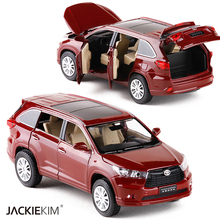 New 1:32 TOYOTA Highlander Alloy Diecast SUV Car Model Toys For Kids Christmas Gifts Collection Original Box Free Shipping(China)