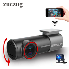 2017 universal mini hidden WiFi Car DVR FHD Night Vision Dash Cam Recorder Rotatable Lens Wireless Snapshot APP Dual cameras