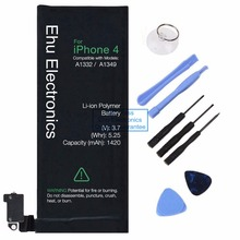 New 1420mAh internal replacement 3.7V Li-ion battery For iPhone 4 4G GSM CDMA + Free Tools