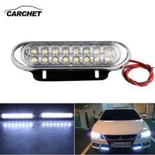 CARCHET Universal 2PCS Car Truck  Day Light 16 LED Lamp Fog Warming Lights Aux Driving DRL White 12V Car Styling FREE SHIPPING