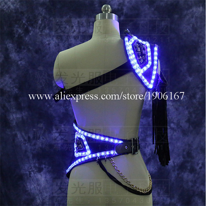 Led Luminous sexy men stage show clothes props02
