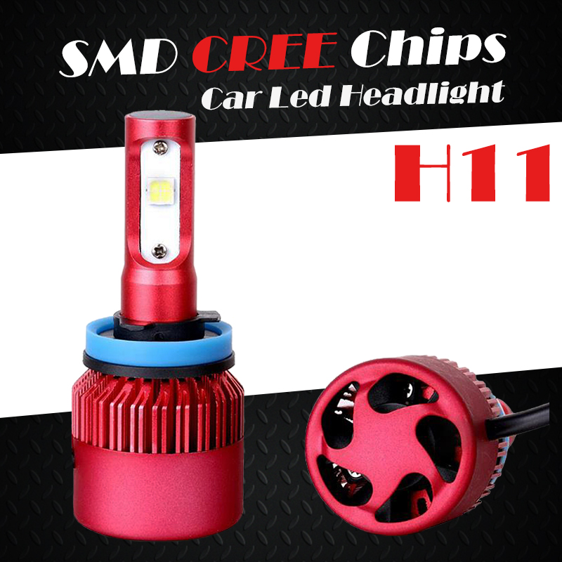 Oslamp 6500K CREE SMD Chips H11 SUV Led Headlight Kits Single Beam Auto Vehicle Car Bulbs with Built-in Fan All-in-one Fog Lamps<br><br>Aliexpress