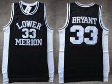 kobe Bryant Lower Merion High School Basketball Jersey  33 Bryant Ko-Be High  School White Red Black Throwback Basketball Jersey f37dde29d
