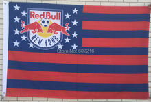 College New York Red Bulls Stars & Stripes Flag 3ft x 5ft USA Flag(China)