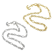 Gold/Original Stainless Steel Jewelry Anchor pandent nautical pattern figaro chain Accessories Gift European 22 Inch 10Strands