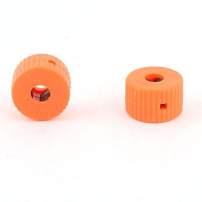 Orange 5mm Hole Dia Screwdriver Bit Magnetizer Demagnetizer Ring 2 Pcs<br><br>Aliexpress