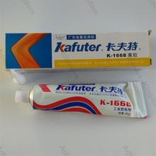 2pcs 100g Kafuter K-1668 industrial adhesives electronic components positioned glue retardant yellow glue free shipping(China)
