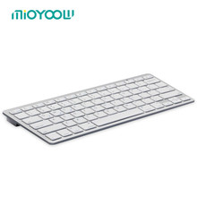 Universal Spanish/English version keyboard For Tablet Ultra-Slim Wireless Bluetooth Keyboards for Mac Win XP 7 8(China)