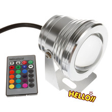 Outdoor 10W RGB Underwater LED Spot Light Flood Light Colour Changing Lamp IP68(China)