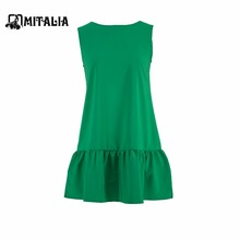 Summer fashion vestidos women cute mini o-neck female loose party solid color dress sleeveless dresses 2017