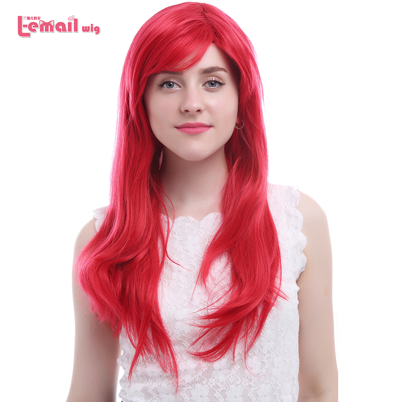 Free Shipping 55cm Fashion Women Synthetic Hair Long Stragiht Red Cosplay Wig<br><br>Aliexpress