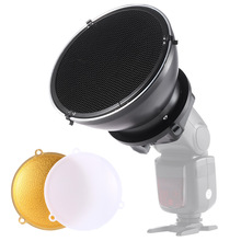 Speedlite Accessories Kit with Universal Mount Adapter + Beauty Dish + Honeycomb Grid for Nikon Canon Sony Yongnuo Godox Flash
