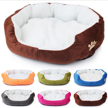 Pet Products Cotton Pet Dog Bed for Cats Dogs Small Animals Bed House Pet Beds Cushion High Quality Cheap Free Shipping(China)