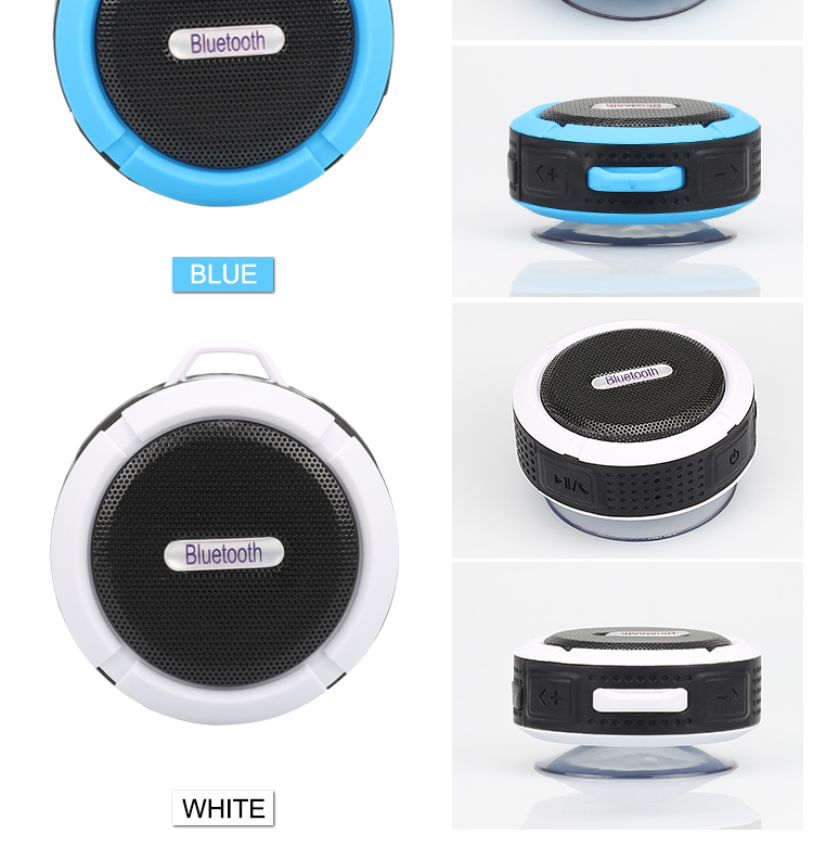 wireless bluetooth speaker waterproof shower receiver camping portable speaker support TF card blue tooth subwoofer for phone