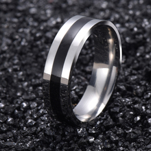 Titanium Band Rings White Gold Brushed Wedding 316L Stainless Steel Solid Ring Men Women Gift G15(China)