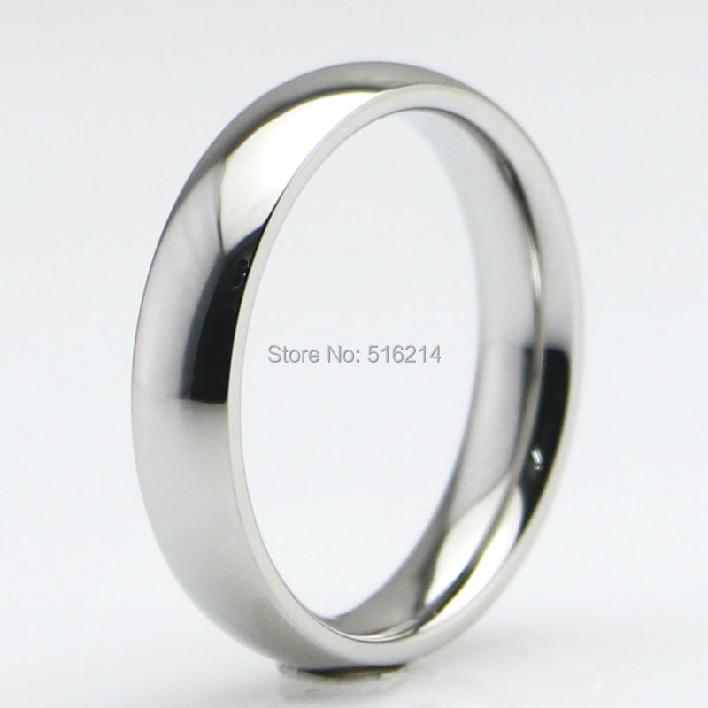 Mens Womens Stainless Steel Band Ring Silver Tone 4MM /& 6MM Wide Various Sizes