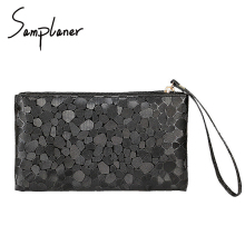 Samplaner Mini Stone Lines Women Wash Bags Travel Leather New Fashion Bling Small Handbag Zipper Women Make Up Bag For Cosmetics(China)