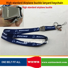 Spring Gate keychain Boeing Airbus aircraft airplane buckle Lanyard Pilot Crew's ID Card Holder snap clasp clip sling string(China)