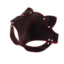 Buy Role Play Erotic Costumes Women Fancy Dress Party Latex Blindfold Eye Mask BDSM Fetish Flirting Leather Sex Toys Adults