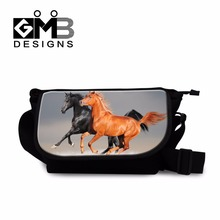 Dispalang high quality women flap mini messenger bag horse crossbody sling bag female travel shoulder bag customized canvas bag(China)