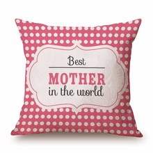 Unique Happy Mother's Day Gift Square Cushion Cases Custom Best Personalized Gift For Mom Beautiful Cushion Cases Custom