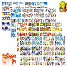 48Sheets Sticker Winter Christmas Gift Beauty Girl Lady Nail Designs Water Transfer Full Decals Nail Art Sticker(China)