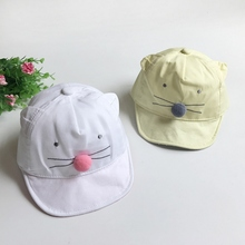 New Cute Cartoon Mice Hat For Baby Kids Boys Girls Baseball Cap Child Cotton Hat 1 to 3 Years Head Wear