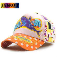 JAMONT 2017 kids boys baseball caps summer cap for kids snapback colorful high quality school gift whale letter embroidery hats(China)
