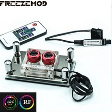 FREEZEMOD CPU Acrylic top water cooling block sprayable liquid block with micro channel for A MD platform AM3+ AM4. A MD-PM3D(China)