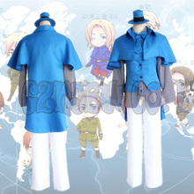 Anime Axis powers Arthur Kirkland Cosplay Costumes Halloween Party England Army Suits top pants set