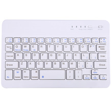 Portable New Slim Multimedia Wireless Bluetooth Keyboard with Charging Port Micro Interface for Android Windows iOS Tablet PC