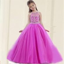 2017 Cute Princess Pageant Flower Girl Dresses New Vestidos De Primera Comunion Girls Frock Designs Girls Wedding Party Dresses