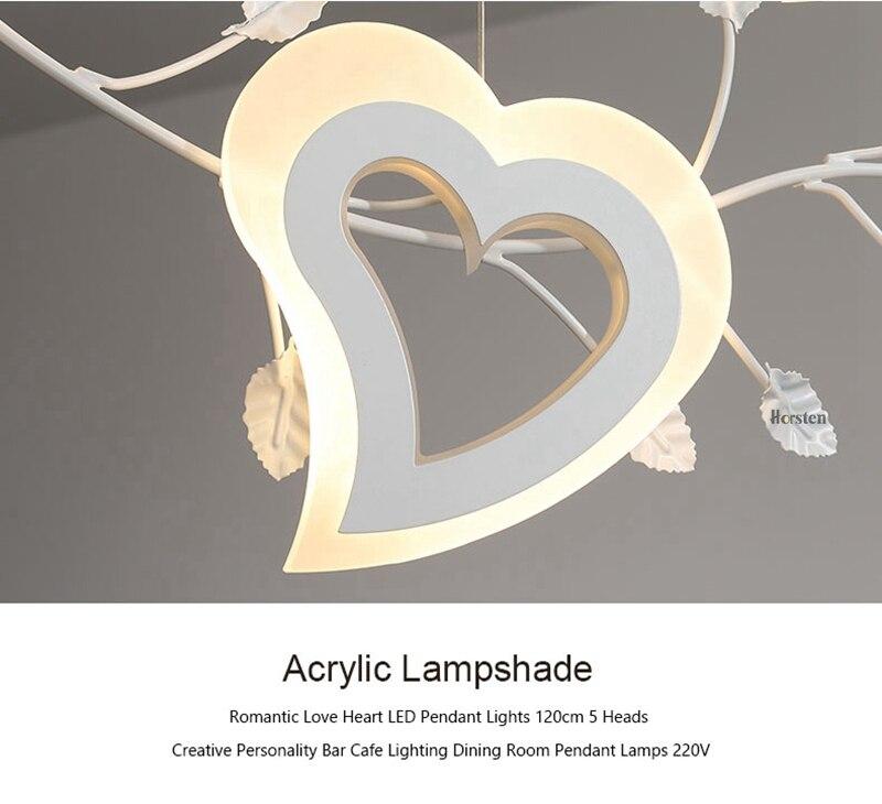 Romantic Love Heart LED Pendant Lights (13)