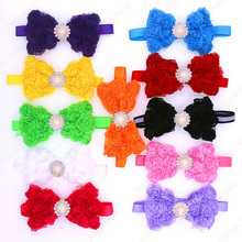 11Colors100pcs Cute Pet Puppy Dog Cat Bowties Flower Bow ties with Rhinestone and small Rose Dog Collar Pet Supplies
