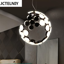 LED Nordic post-modern designers droplight sitting room dining-room creative personality wave light(China)