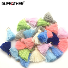 GUFEATHER 2cm Tassel/cotton tassel bursh /Golden ring/Earring tassels /jewelry accessories/diy accessories/jewelry making