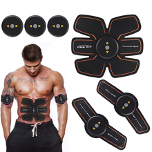 Rechargable Wireless EMS Electric Abdominal Arm Muscles Stimulator Exerciser Intensive Training Fitness Massager Device(China)
