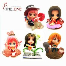 "5 Pcs/Set 2"" Cartoon One Piece Nami Robin Hancock Perona Shirahoshi Action Figure Toys Kids Adult Collection Model Gift P017"